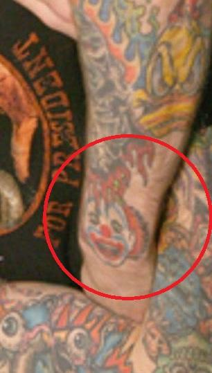 Rob clown tattoo