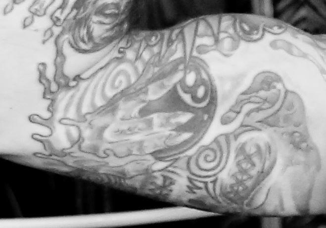 Rob inner bicep tattoo