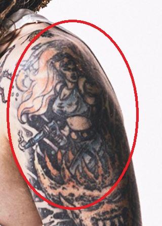 Rob left shoulder tattoo