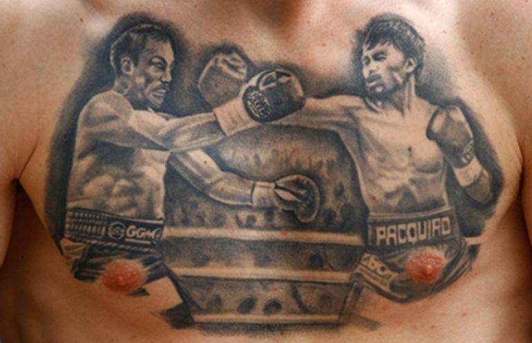Robbie chest tattoo