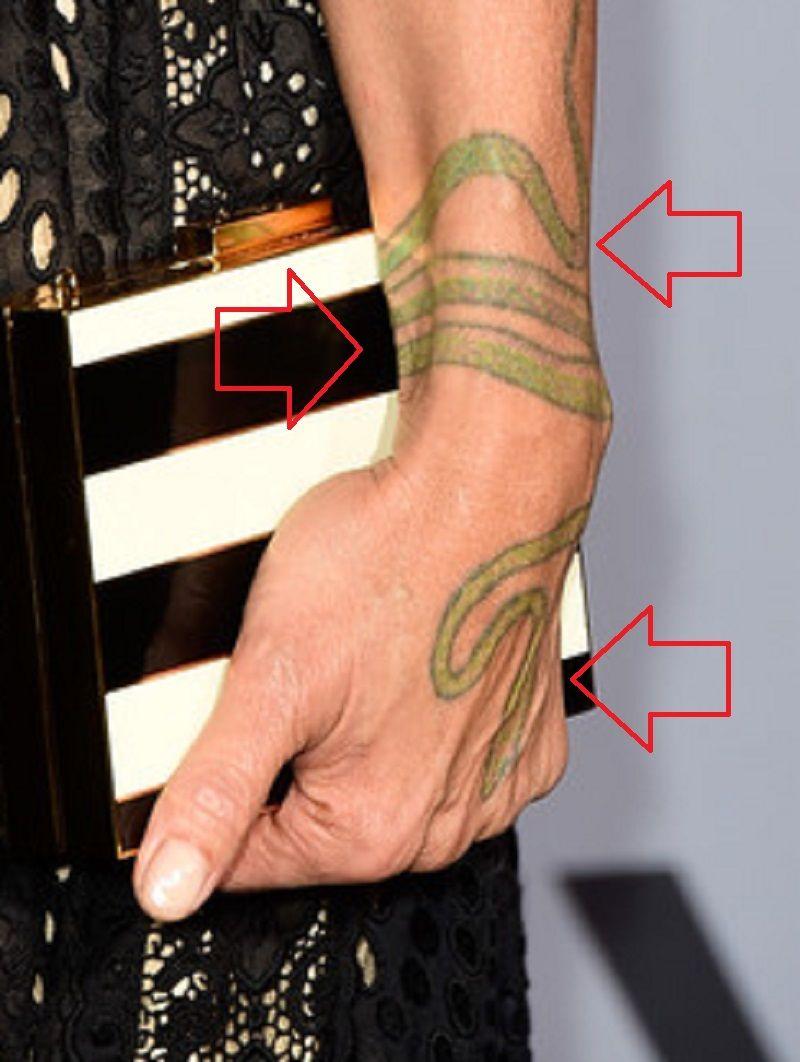 Snake tattoo-lisa bonet