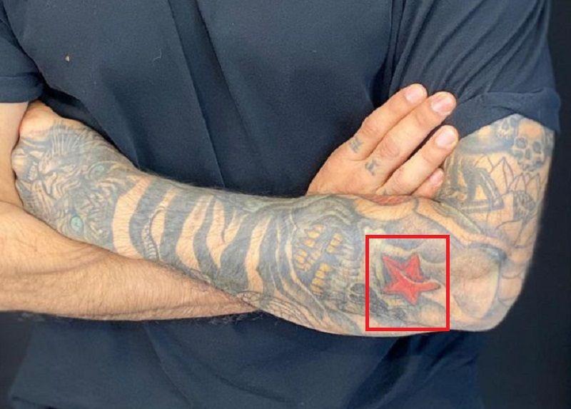 Star-Tattoo-Prateik Babbar-Tattoo