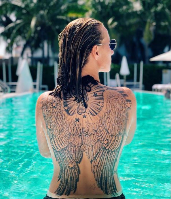 Svetlana back tattoo