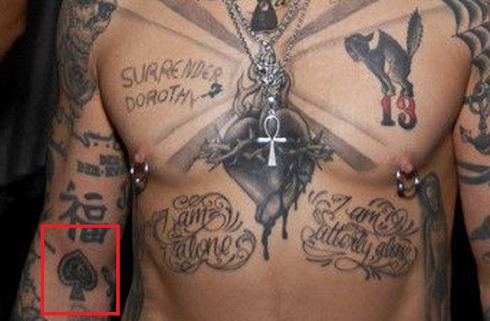 Tattoo right arm of dave navarro