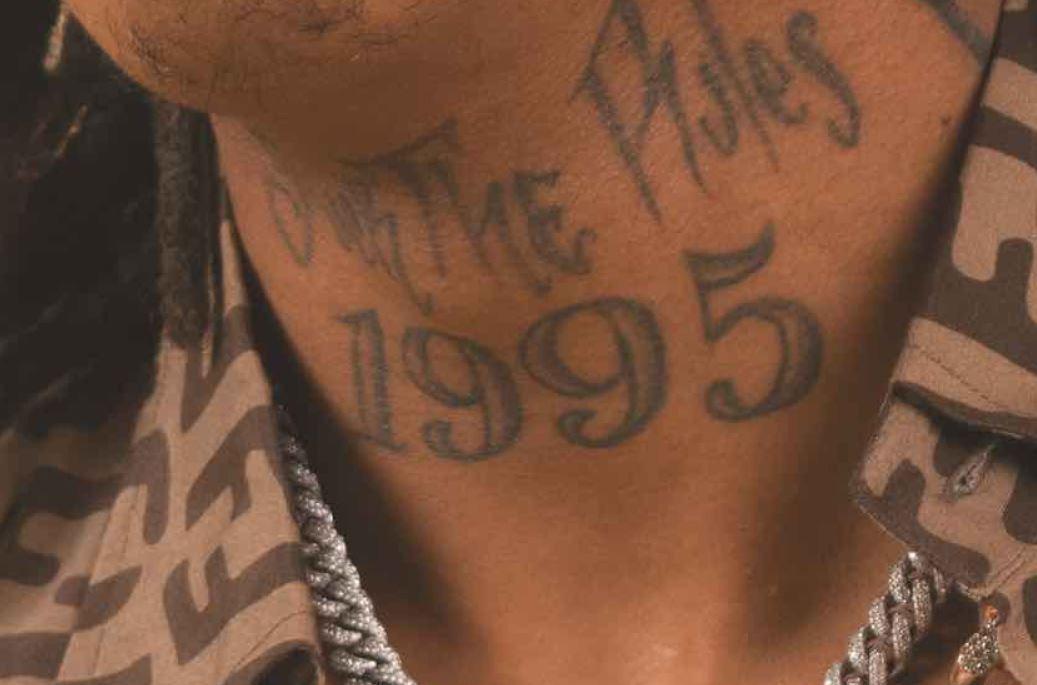 Tyla neck tattoo