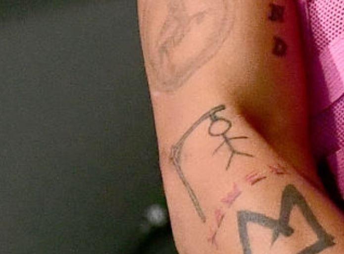 Tyla right arm tattoo
