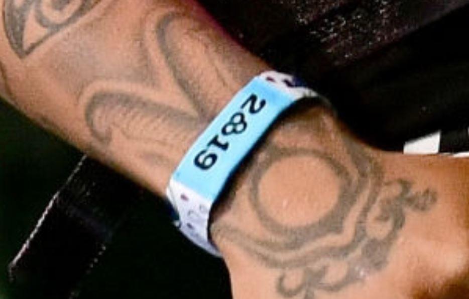 Tyla wrist tattoo