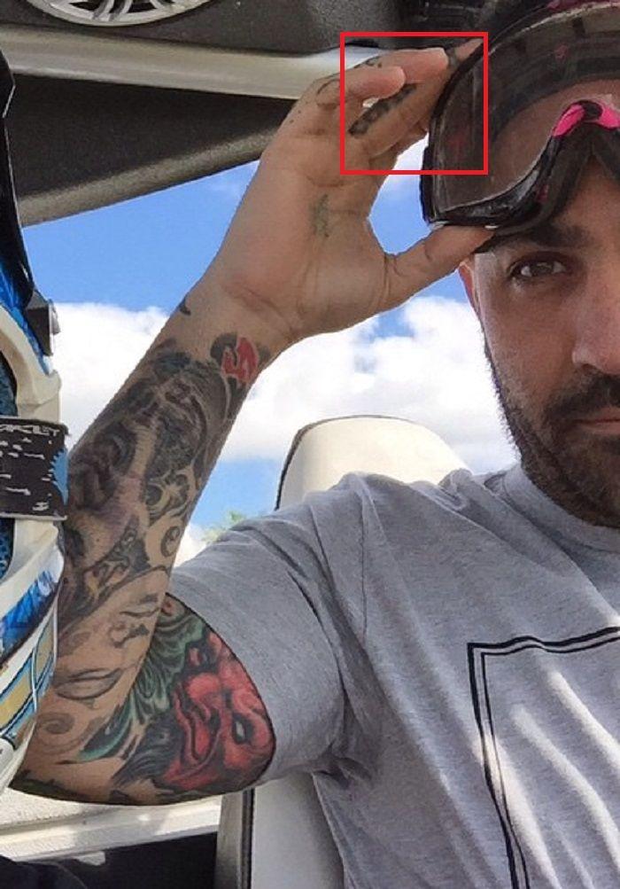 middle finger tattoo chris nunez
