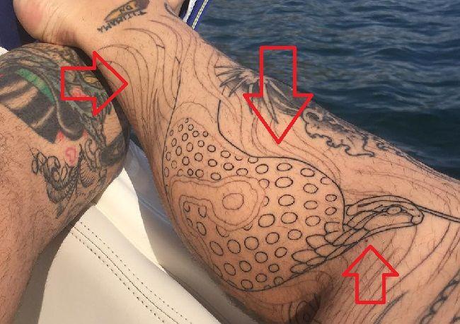 right leg tattoo chris nunez