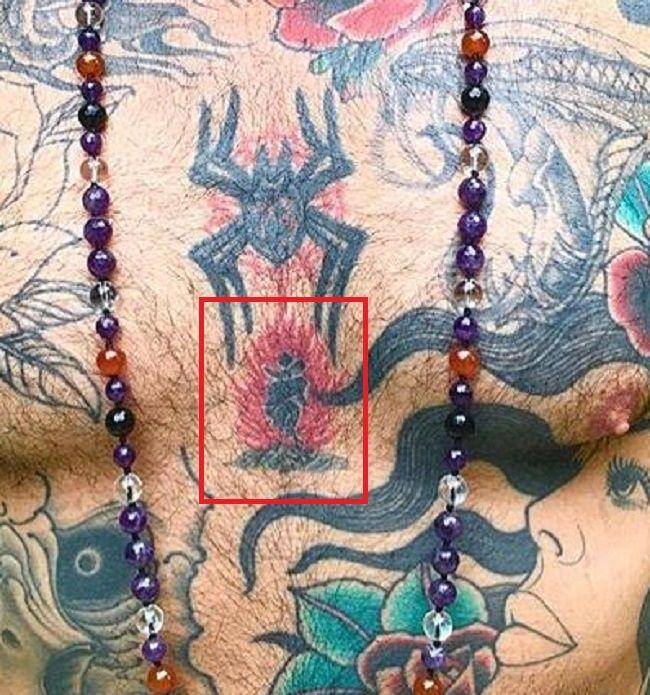 tattoo on chest of chris nunez