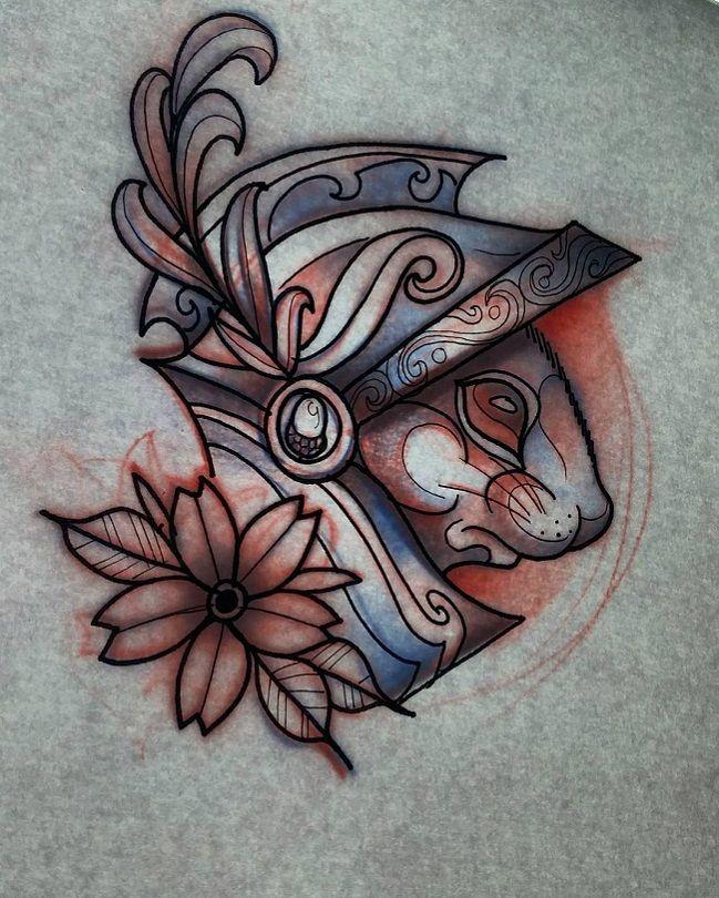 A Knight Squirrel Tattoo