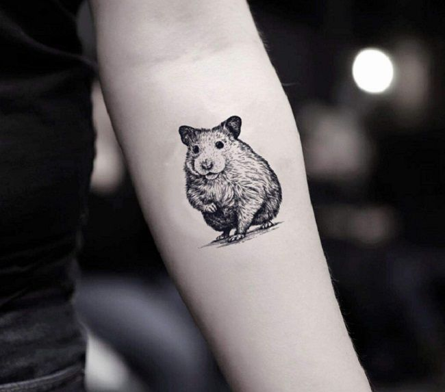 Sketch Hamster Tattoo