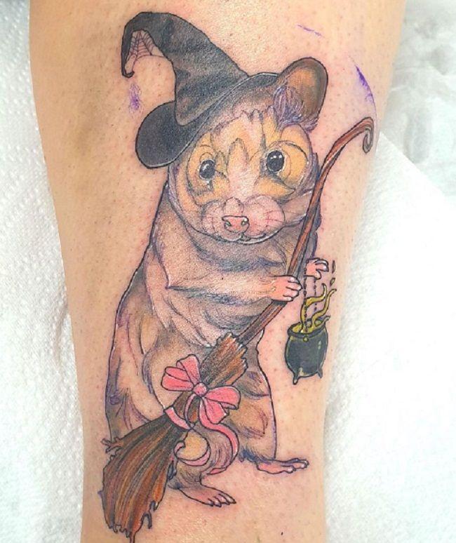 A Wizard Hamster Tattoo