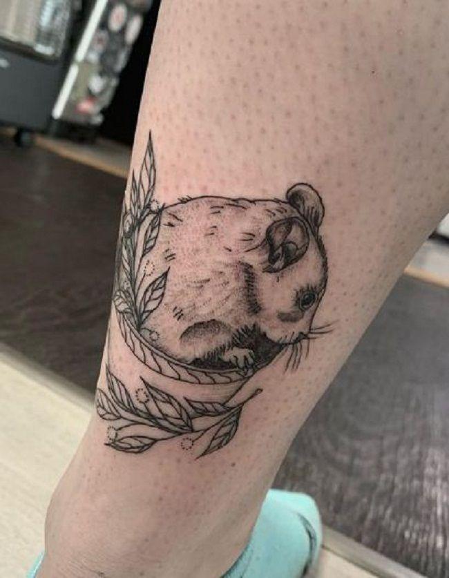 A little shy Hamster Tattoo