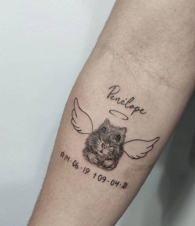 Angel Hamster Tattoo