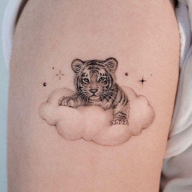 'Baby Tiger(Cub)' Tattoo