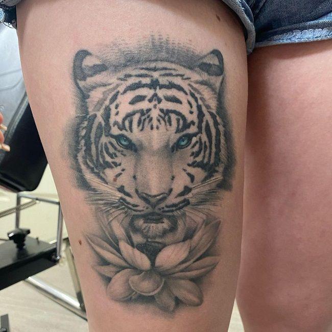 'Blue- Eyed Tiger' Tattoo