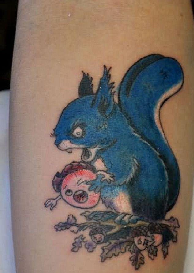 Blue Squirrel Tattoo