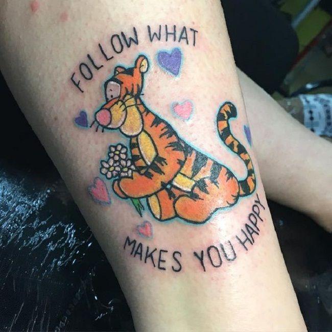 'Cartoon Character Tiger' Tattoo