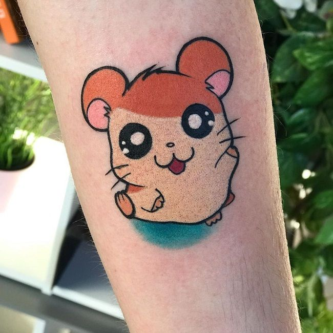 Cartoon Character Hamster Tattoo