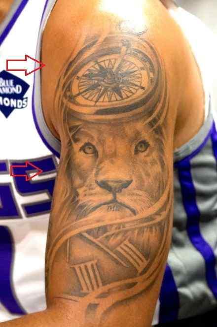 Cory Joseph compass lion tattoo