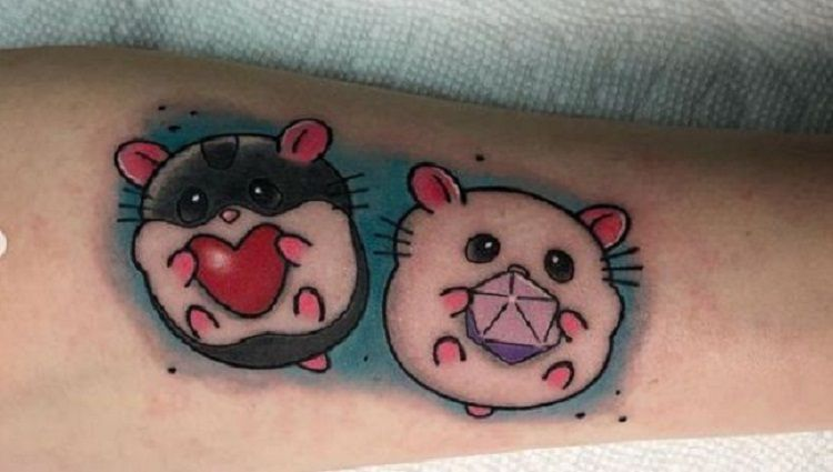 Couples Hamster Tattoo