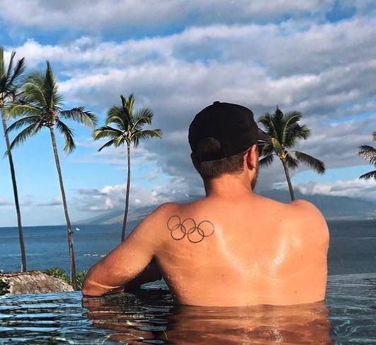 Denis Olympic rings tattoo