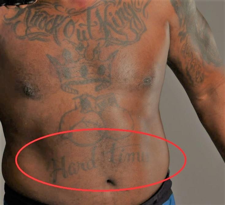 Derrick HARD TIMES Tattoo