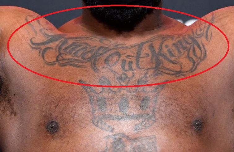 Derrick chest tattoo