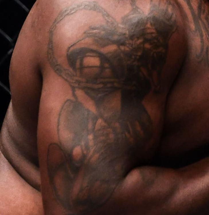 Derrick right shoulder tattoo