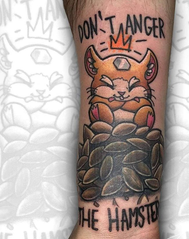 Don't anger Hamster Tattoo