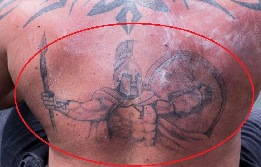 Eddie back tattoo