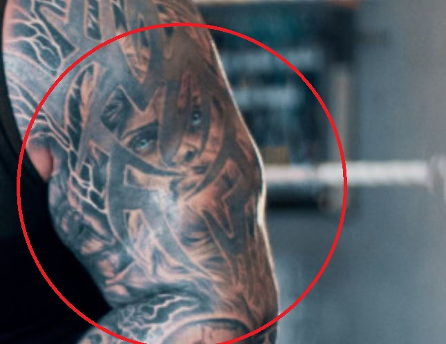 Eddie face tattoo