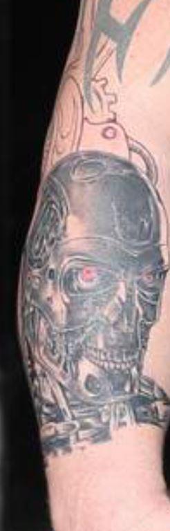 Eddie terminator inspired tattoo