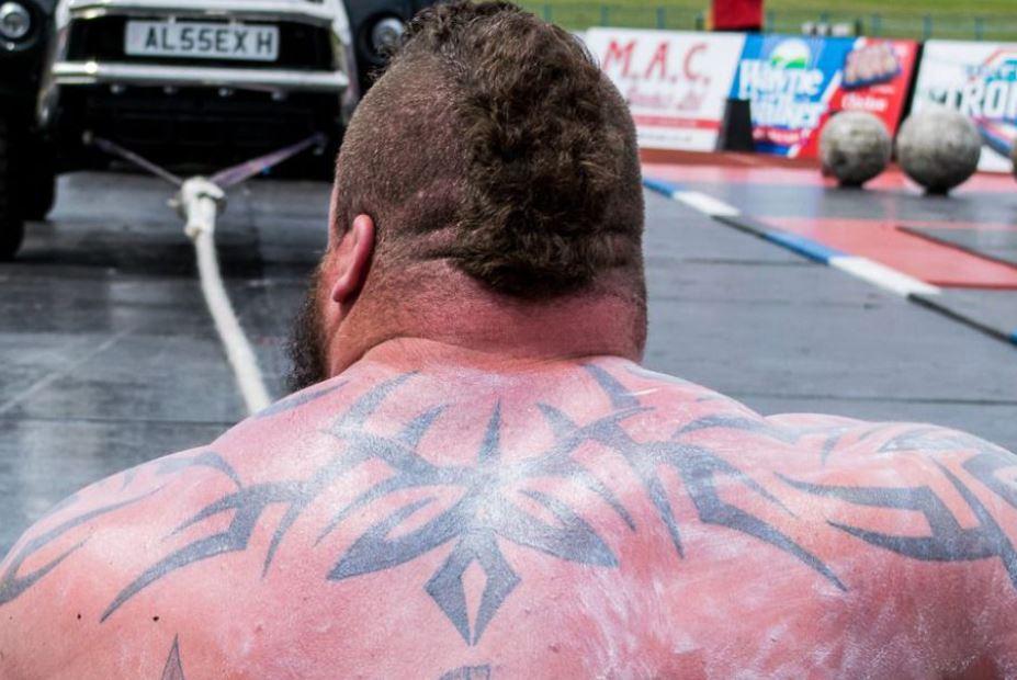 Eddie tribal tattoo on back