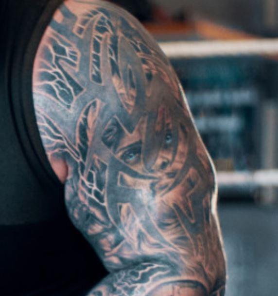 Eddie tribal tattoo