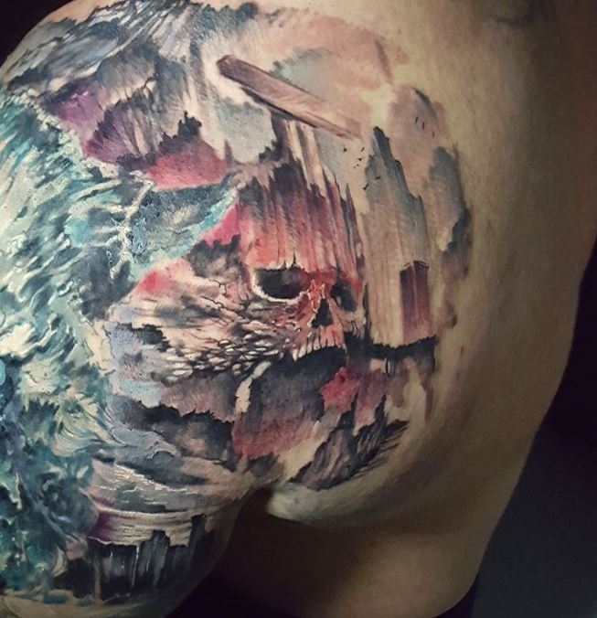 Hafthor tattoo cover up