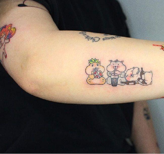 Hamster Family Tattoo