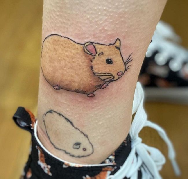 Hamster with a shadow Tattoo