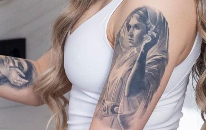 Kelsey arm tattoo