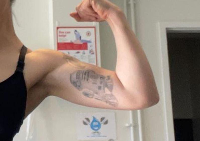 Kelsey bicep tattoo