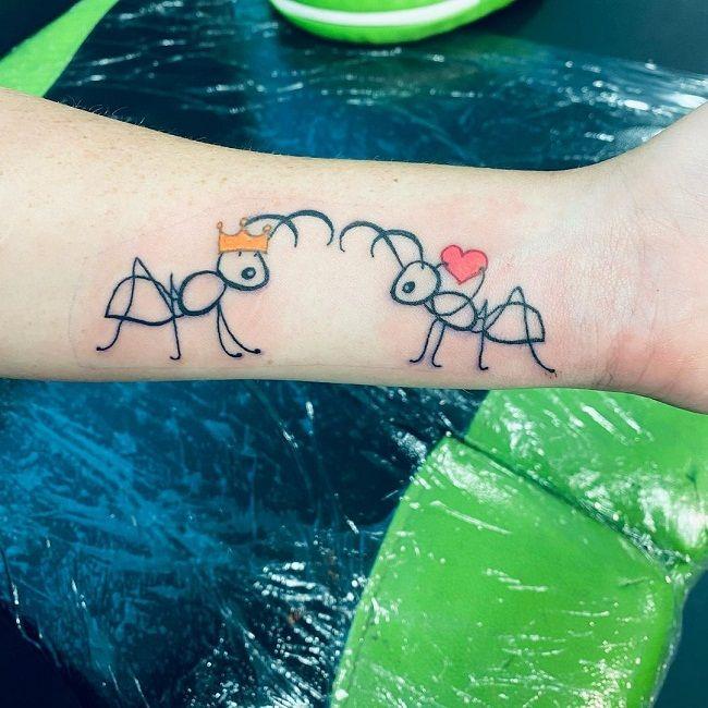 Ant Couple Tattoo