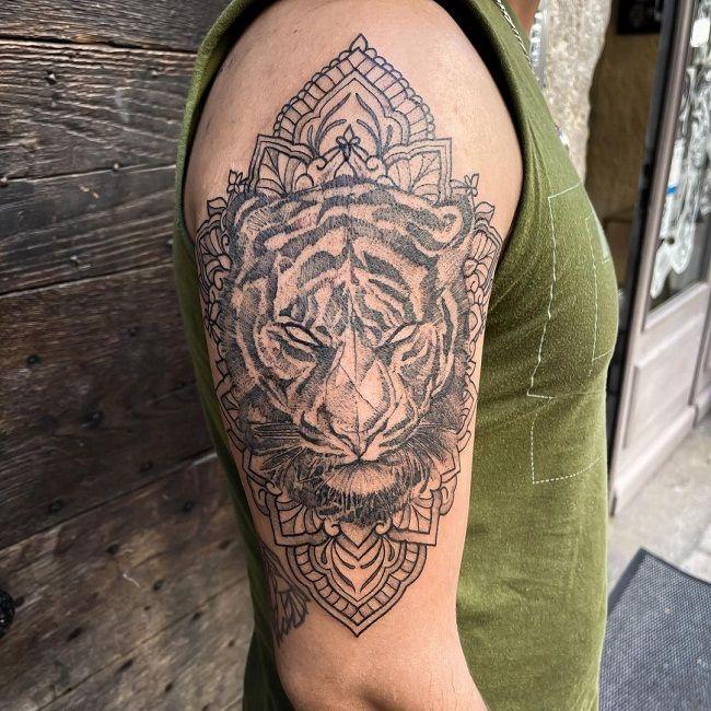 'Mandala Tiger' Tattoo