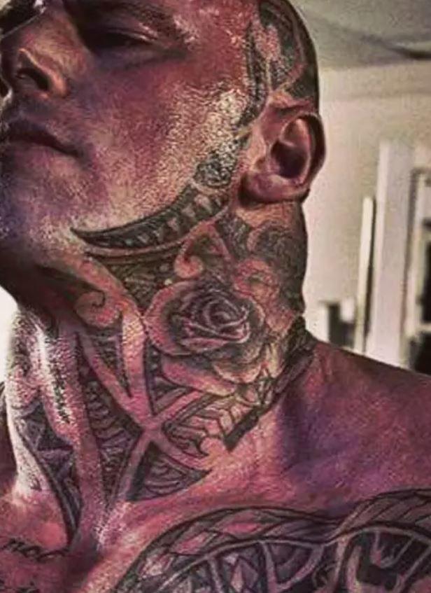 Martyn neck tattoo