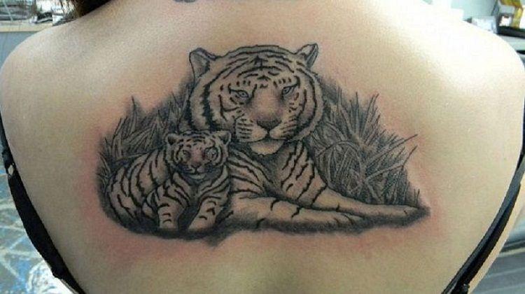 'Mum and Baby Tiger' Tattoo