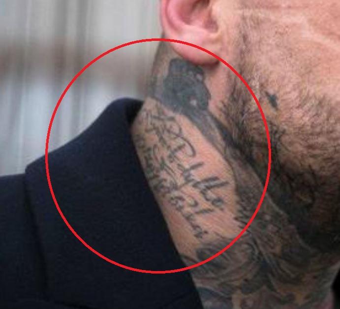Popek neck tattoo