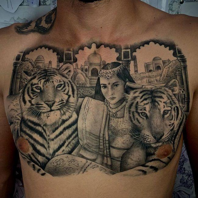 'Portrait Tiger' Tattoo