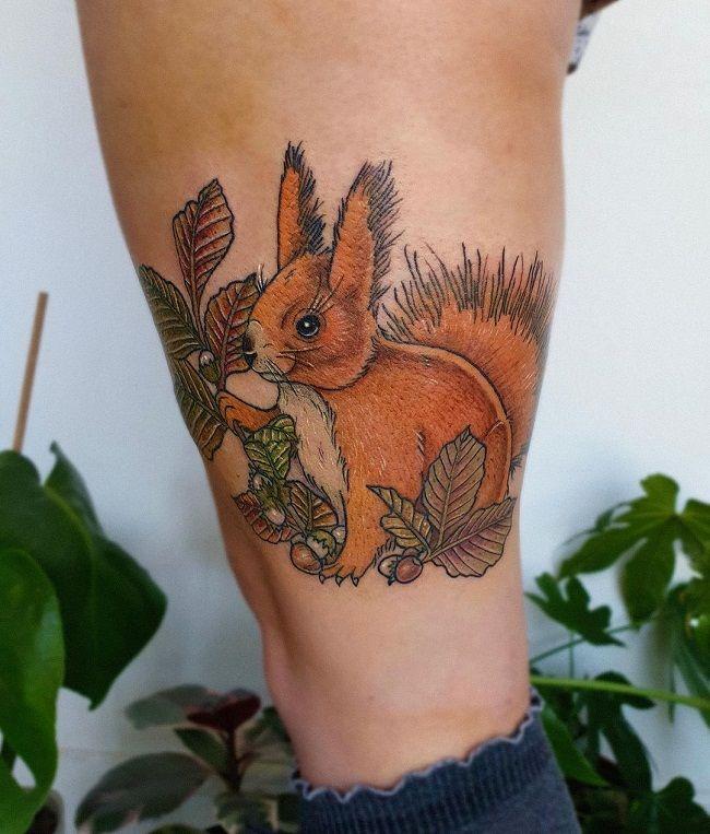 Red Squirrel Tattoo