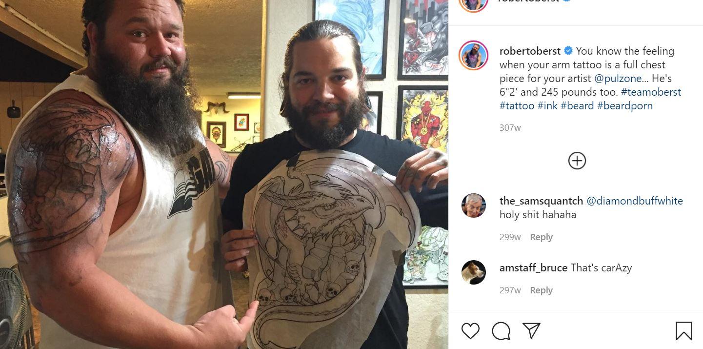 Robert bicep tattoo