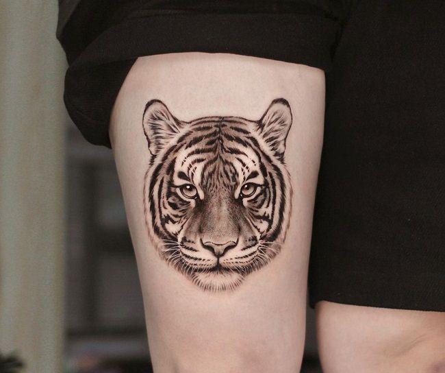 'Tiger Face' Tattoo
